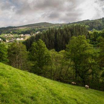 Vista de Talladas, en el Municipio de Santa Eulalia de Oscos